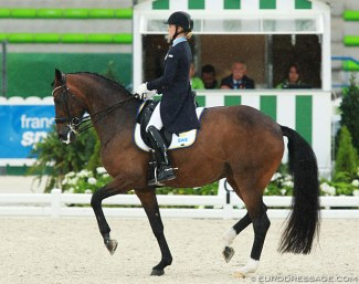 Jeanna Hogberg and Darcia VH at the 2014 World Equestrian Games in Caen :: Photo © Astrid Appels