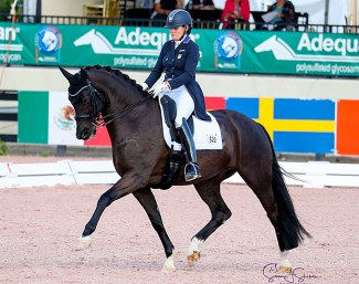 Ashley Holzer and Eastwood at the 2020 CDI-W Wellington :: Photo © Sue Stickle