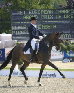 Klaus Husenbeth and Piccolino at the 2005 European Dressage Championships in Hagen :: Photo © Astrid Appels