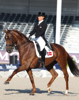 Anna Kasprzak and Langkjaergaard's Donna Fetti competing in the Under 25 division at the 2011 European Dressage Championships in Rotterdam :: Photo © Astrid Appels