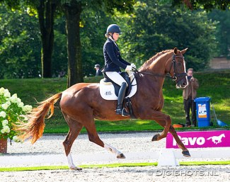 Veronique Roerink and Khaleesi at the 2019 Dutch Championships :: Photo © Digishots
