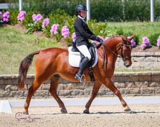 Abby Fodor on Slip and Slide at the 2020 U.S. Dressage Championship :: Photo © Sue Stickle