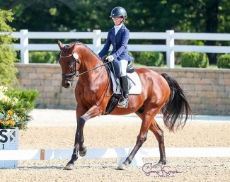 Lexie Kment and Manatee win the 2020 U.S. Children Championship :: Photo © Sue Stickle