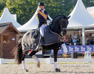 Edward Gal and Toto Jr at the 2020 Dutch Dressage Championships :: Photo © Hippofoto