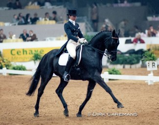 Monica Theodorescu and Arrak xx at the 1997 World Cup Finals in 's Hertogenbosch :: Photo © Dirk Caremans