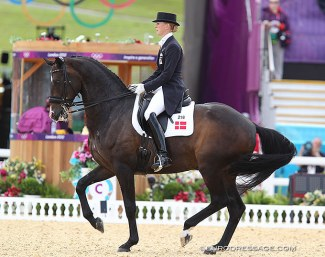 Nathalie zu Sayn-Wittgenstein and Digby at the 2012 Olympic Games in London :: Photo © Astrid Appels