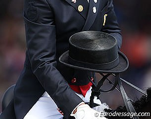 Top hats to disappear from the sport of dressage as of 1 January 2021 :: Photo © Astrid Appels