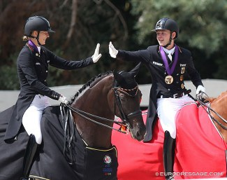 Ann-Kathrin Lindne and Raphael Netz are the individual gold and bronze medal winners at the 2020 European Under 25 Championship :: Photo © Astrid Appels