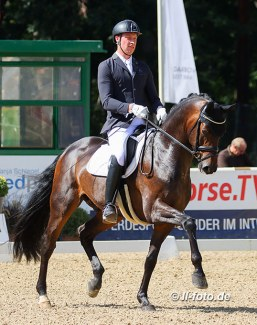 Lars Ligus and Dinay at the 2020 Bundeschampionate in Warendorf :: Photo © LL-foto