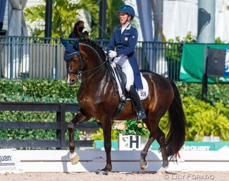 Sabine Schut-Kery and Sanceo in the GP Special at the 2021 CDI 5* Wellington :: Photo © Lily Forado