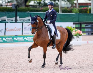 Nick Wagman and Don John at the 2021 Palm Beach Dressage Derby CDI-W :: Photo © Sue Stickle