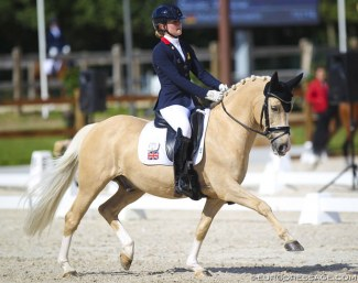 Annabella Pidgley and Cognac IX at the 2020 CDI Grote Brogel :: Photo © Astrid Appels