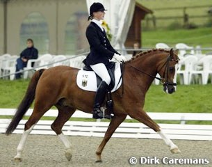 Annika Fiege and Konrad at the 2002 European Pony Championships :: Photo © Dirk Caremans